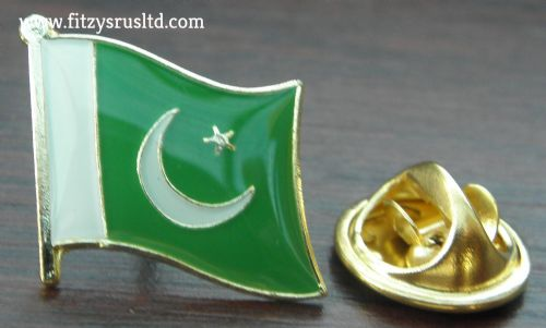 Pakistan Country Flag Lapel Hat Tie Cap Pin Badge Brooch